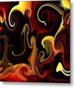 Flames And Faces Metal Print