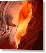 Flames Under The Arizona Desert Metal Print