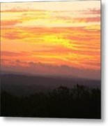 Flaming Autumn Sunrise Metal Print