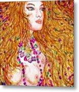 Flaming Desire Metal Print