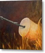 Flaming Metal Print