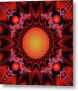 Flaming Sol Metal Print