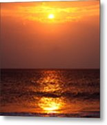 Flaming Sunrise Metal Print
