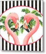 Flamingo Amore 5 Metal Print