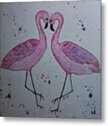 Flamingo Dance Metal Print by Ginny Youngblood