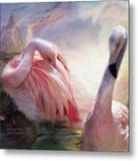 Flamingo Dawn Metal Print