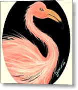 Flamingo Deco Metal Print