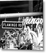 Flamingo Road Las Vegas Metal Print
