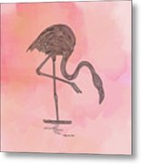 Flamingo4 Metal Print