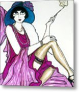 Flapper Girl 4 Metal Print