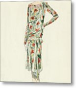 Flapper In An Afternoon Dress Metal Print