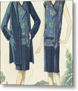 Flappers In Frocks And Coats, 1928  Metal Print