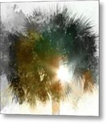 Flared Textured Palm Metal Print