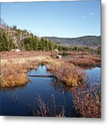Flat Mountain Ponds - Sandwich Wilderness White Mountains Nh Metal Print