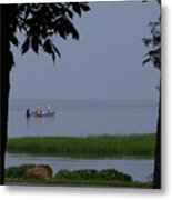 Flat Water Fishing Metal Print