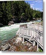 Flathead River Rapids Metal Print