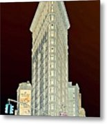 Flatiron Building Inverted Metal Print