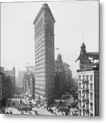 Flatiron Building - Vintage New York - 1902 Metal Print