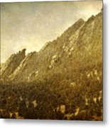 Flatiron Views  Boulder Colorado Metal Print