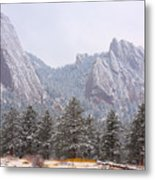 Flatirons From The South Boulder Colorado Metal Print