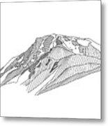 Flattop Mountain Metal Print