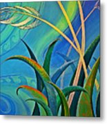 Flax Harakeke By Reina Cottier Metal Print