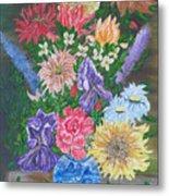 Flemish Floral Metal Print