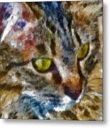 Fletcher Kitty Metal Print by Marilyn Sholin