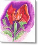 Fleur D'amour Metal Print