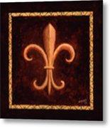 Fleur De Lys-king Louis Vii Metal Print