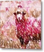 Fleur De Sheep Metal Print