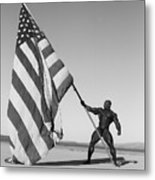 Flex Flag Metal Print