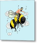 Flight Of The Bumblebee By Nicolai Rimsky Korsakov Metal Print