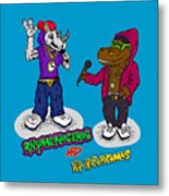 Flight Of The Conchords The Hiphopopotamus And The Rhymenoceros Together On The One Design Metal Print