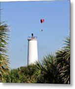 Flight Over Egmont Key Metal Print