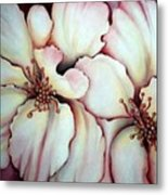 Flighty Floral Metal Print