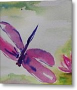 Float Like A Dragonfly Metal Print