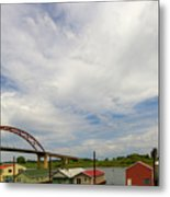 Floating Boat House Living By Sauvie Island Metal Print