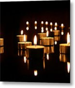 Floating Candles Metal Print
