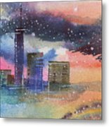 Floating City Metal Print