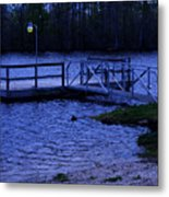 Floating Fishing Boat Dock Metal Print