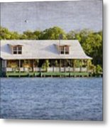 Floating House In La Parguera Puerto Rico Metal Print