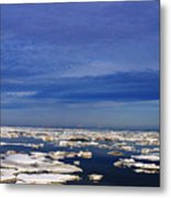 Floating Ice Metal Print