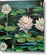 Floating Lillies Metal Print