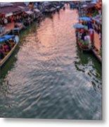 Floating Market Sunset Metal Print