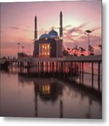 Floating Mosque Metal Print
