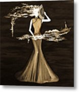 Floating Scent Metal Print