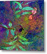 Floating Summer Leaves Metal Print