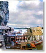 Floating Village Thailand Metal Print