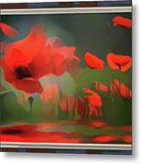 Floating Wild Red Poppies Metal Print